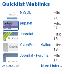 Demo - Joes Quicklist Weblinks