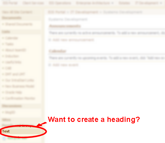 Want to create a heading?