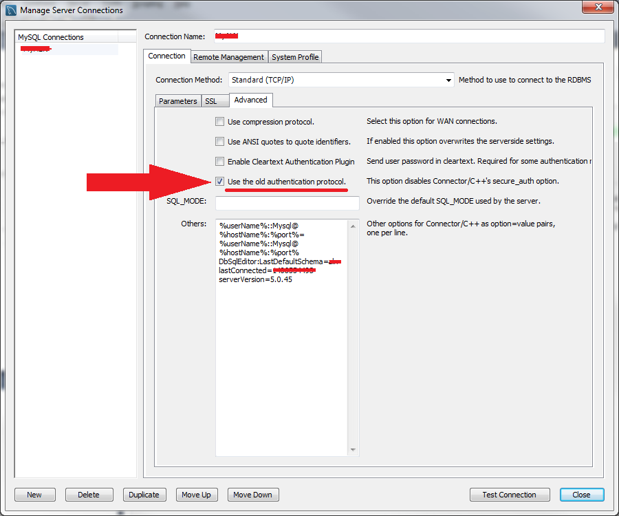 Use Legacy Auth setting by parameter