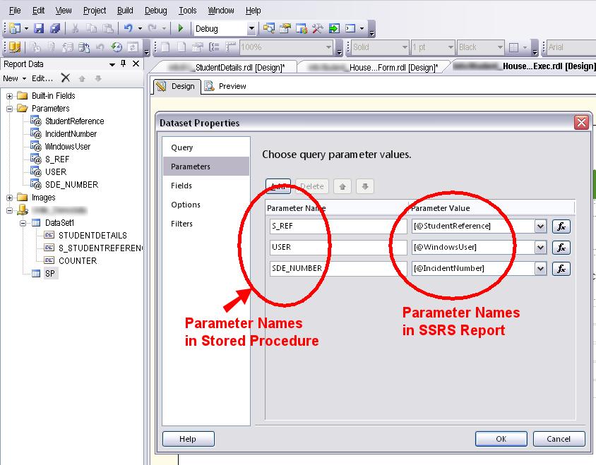 SSRS Parameters in Oracle Stored Procedure @ Joel Lipman  Com